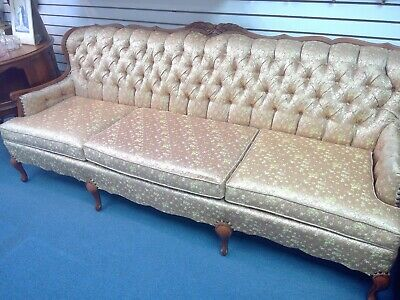 Antique French Provincial Sofa Rose gold