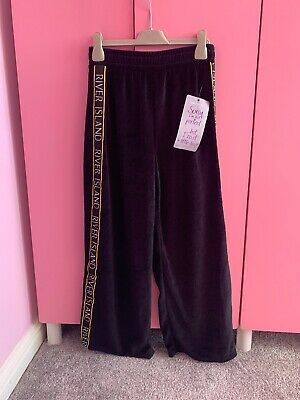 River Island Girls Velour Trousers Bottoms Aged 9-10 Bnwt