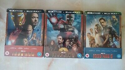 Iron Man Trilogy 4K Steelbooks - 4K UHD and Blu-ray - Brand new and sealed