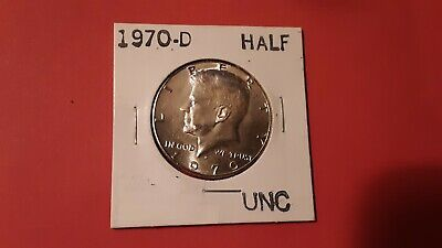 Key Date 1970-D Silver 50c Kennedy Half Dollar Uncirculated in Mint Cello Sealed