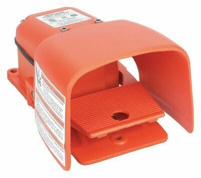 Heavy Duty Foot Switch, SPDT Contact Form, 125/250VAC Voltage Rating, 2, 4, 13
