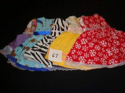 doll dress for 18 inch american girl lot of 5 assorted handmade lace ribbon 67