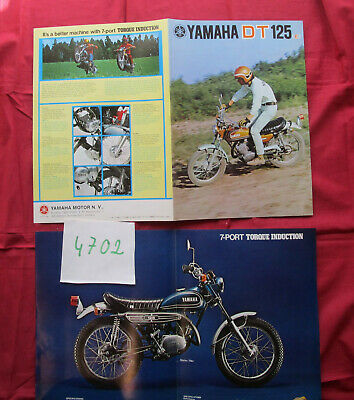 N°4702 / dépliant YAMAHA DT 125 ( E )  Texte francais  english text