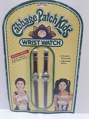 Vintage 1980s Cabbage Patch Kids Watch w/ Bonus Play Watch for Doll Still Sealed