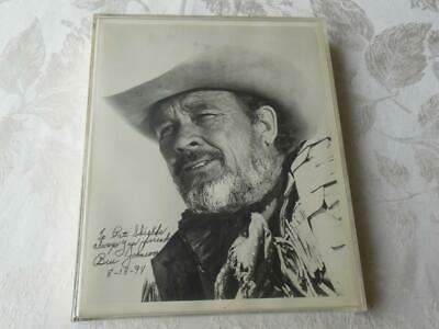 Ben Johnson Western Hollywood Glossy Photo Vintage Hand Signed Autographed