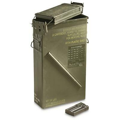 U.S. Military Surplus LARGE Ammo Can PA156 81MM Gun 10 Magazine Storage RD 556 G