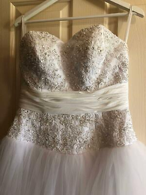 Wedding Dress or Debutante. Charm Angel Brand. Size 10-12. Perfect condition