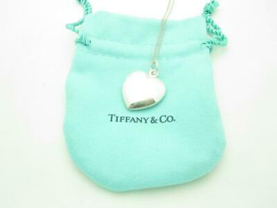 """Tiffany & Co. Sterling Silver Puffed Heart Pendant Necklace 16"""""""