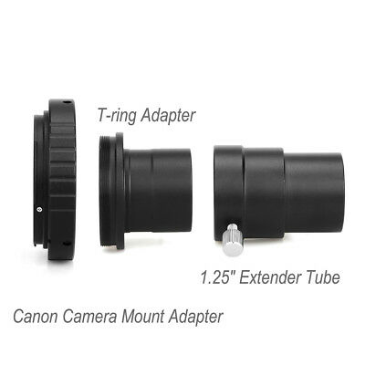 """SVBONY Camera Mount Adapter+T-Ring Adapter+1.25"""" Extension Tube For Astronomy"""