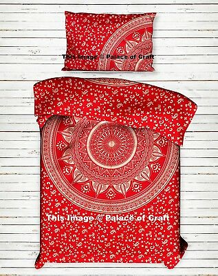 Indian Ombre Mandala Ethnic Quilt Doona Cover Bedding Duvet Cover Twin Cotton