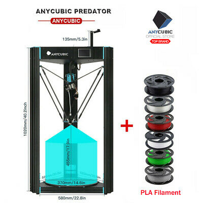 ANYCUBIC D Delta 3D Printer Predator Auto-Leveling Pre-assembled Ultrabase Pro