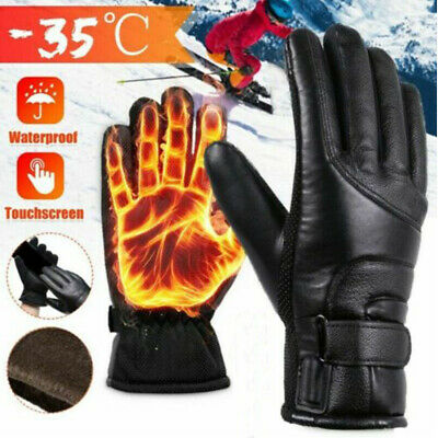Winter Motorcycle Bike Heated Glove Warm USB Electric Waterproof Gloves J1M9A