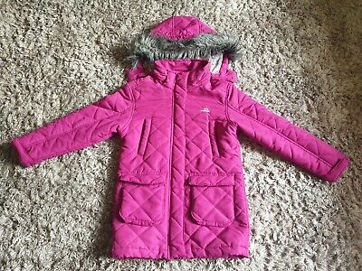 Girls Ex M/&S Padded Winter Hooded School Coat Stormwear Navy Black Pink Plum J6