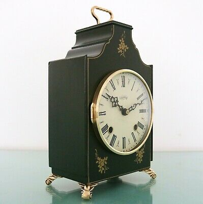 WARMINK Mantel Vintage Clock RARE Model Bronze Features 2 Bell CHIME Mid Century