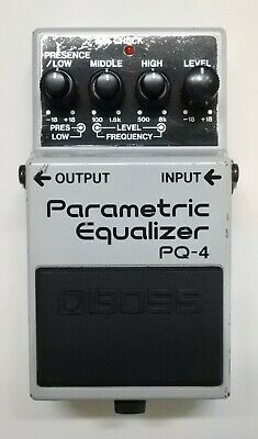 BOSS PQ-4 Parametric Equalizer Guitar Effects Pedal 1995 #81 Free Shipping