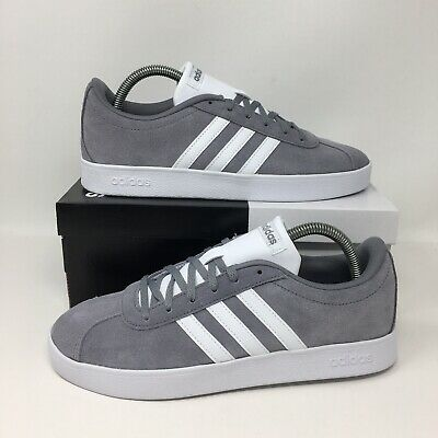 *NEW* Adidas VL Court 2.0 Kids (Youth Size 7Y) Grey Athletic Sneakers