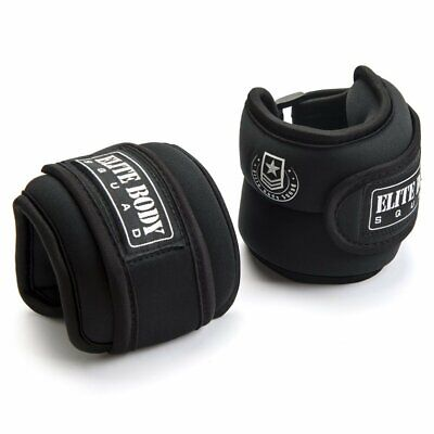 Elite Body Squad Ankle Weights Pro Quality Adjustable Leg Weights 1kg x 2 - On