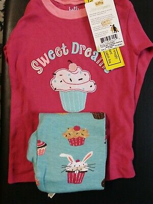 Hatley Cupcakes Applique Pyjamas 100% Cotton 2y pj's BNWT
