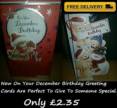 Brand New On Your December Birthday Greeting Card With Envelope For Sale