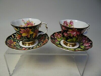 Royal Albert Bone China, Two sets of Cups & Saucers, Provincial Flowers (B)