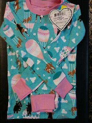 Hatley Balloon Dogs Girls Pyjamas 100% Cotton 3y pj's BNWT