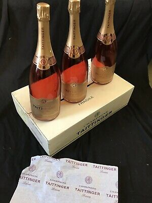 Taittinger Champagne Prestige Rose -  Case of 3 X Magnum Display / Dummy Bottles