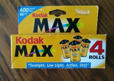 Kodak Max 400 35mm 96 Exposure Color Print Film 4 Pack EXPIRED 05/2002 New