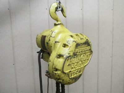 Budgit M699 Electric Roller Chain Hoist 1 Ton 2000 Lbs 3 PH 9' Ft. Lift