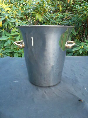 Vintage French Stainless Steel Guy de Grenne Ice/Champagne Bucket (6288)