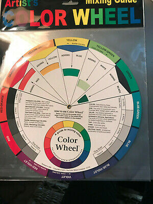 Pocket Color Wheel Paint MIXING COLOR GUIDE Art Artist 9 inch Diameter