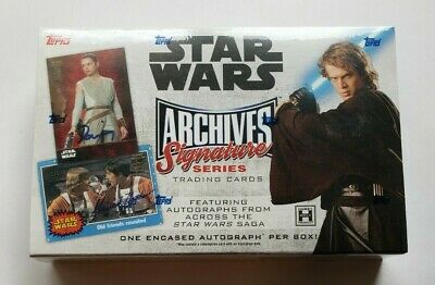 2018 Topps Star Wars Archives Signature Series Hobby Box - FACTORY SEALED!