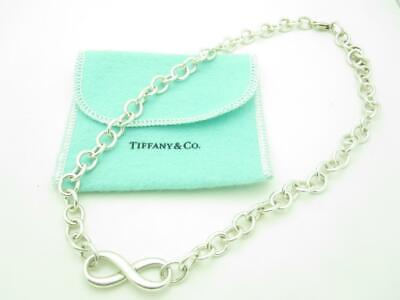 Tiffany & Co. Sterling Silver Large Infinity Chain Link Necklace 17.5""