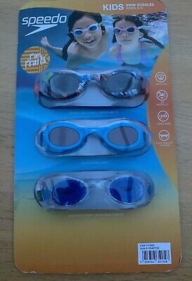 Speedo Kids Goggles Ages 3-8 3 Pack Of Speedo Swimming Goggles Bnwt Swim Wear