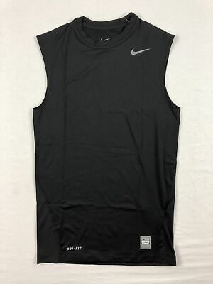 NEW Nike - Men's Black Compression (Tight Fit) Sleeveless Shirt (Multiple Sizes)