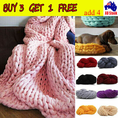 250g Super Thick Bulky Wool Yarn Soft Chunky Hand Knitting Hat Scarf Blanket YL