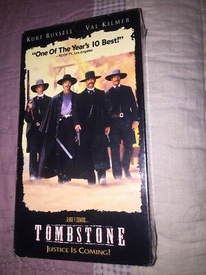 Tombstone (VHS, 1994) Kurt Russell Val Kilmer NEW SEALED