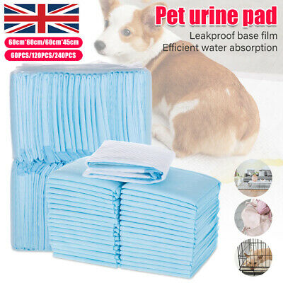 60/120/200x Large Pet Dog Puppy Pee Wee Toilet Training Pads 60x45cm/60cm Mats