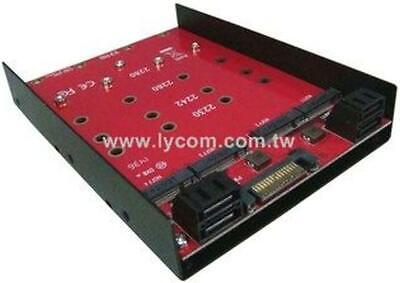 Lycom DT-124 adapter to Install 4x M.2 NGFF SATA SSD in 3.5 inch HDD bay PC/MAC