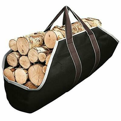 Large Canvas Log Tote Bag Carrier Indoor Fireplace Firewood Totes Log Holders