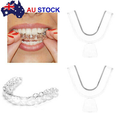 4 Silicone Night Mouth Guard Teeth Clenching Grinding Dental Sleep Aid Oral Care