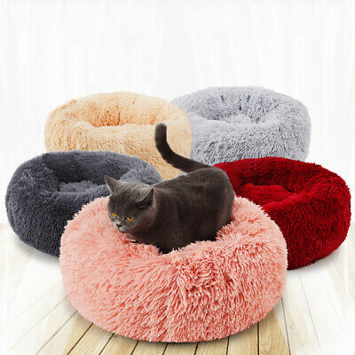 Comfy Calming Dog/Cat Bed Round Super Soft Plush Pet Bed Marshmallow Cat Bed UK
