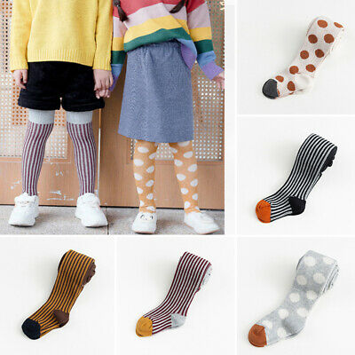 Baby Kids Girl Boy Cotton Warm Striped Printed Pantyhose Socks Stockings Tights