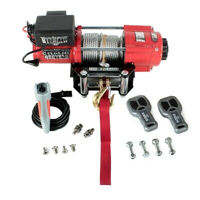 Stealth 4500lb / 2040kg 12v Electric Winch with Steel Rope