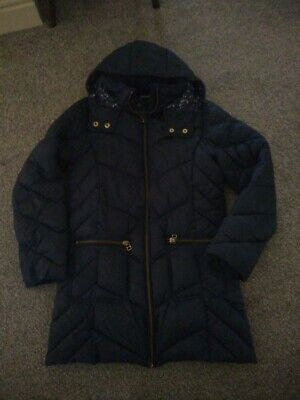 Girls Next Quilted Navy Blue Coat Age 11 Years