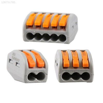 C283 Grey Terminal Block Spring Lever Cable Portable Electric Cable Connectors