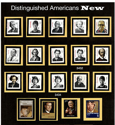(37A) Distinguished Americans 3420 / 5101 complete set of 19  MNH