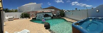 Lanzarote Christmas holiday 6 bed villa heated pool and hot tub
