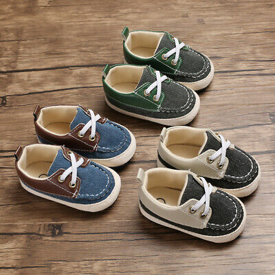 Infant Toddler Baby Kids Boys Girl Soft Sole Crib Shoes Sneaker Pre-Walker 0-18M