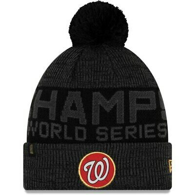 Washington Nationals New Era 2019 World Series Champions Locker Room Knit Hat -