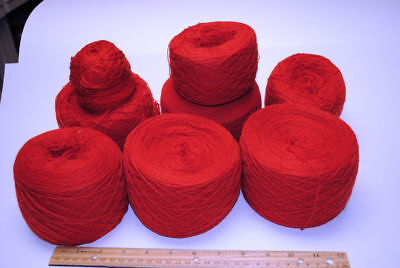 Knitting Yarn Lot 6 Burnt Orange Light weight Yarn
